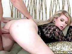 Lovely Mature Blonde Slurps Thick Cock 2