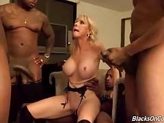 Horny Black Studs Attack Slutty White Lady 3