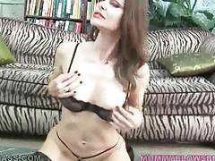 Breasted Milf Swallows Lover`s Stiff Dong 1